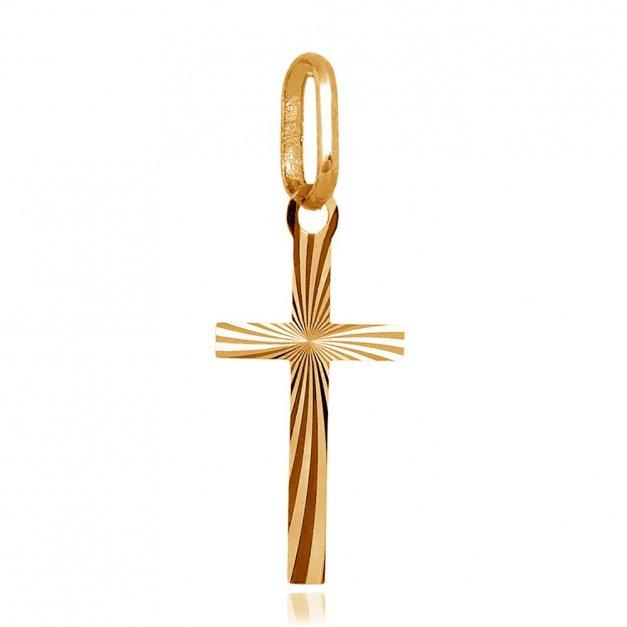 Złota Zawieszka 585 Krzyżyk La Luce Grawer