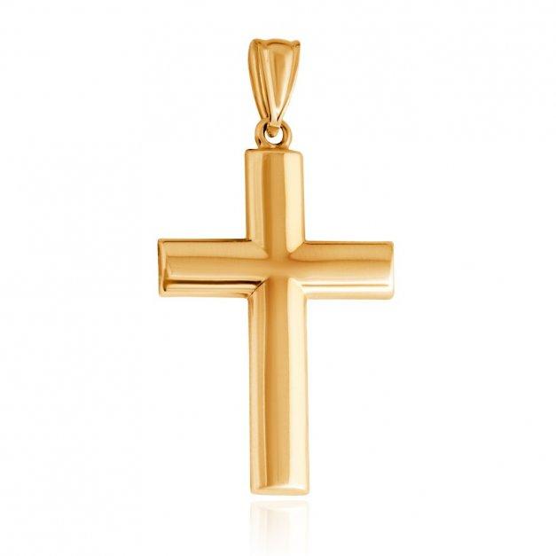 Złota Zawieszka 333 Krzyżyk Grande Grawer