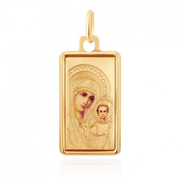 Złota Zawieszka 333 Matka Boska Kolor Grawer