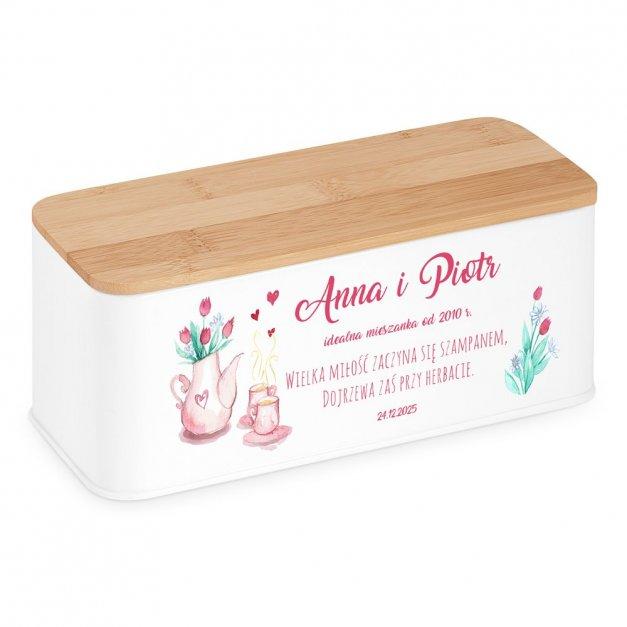 Zestaw Herbat w Metalowym Pudełku Nadruk Wielka Miłość