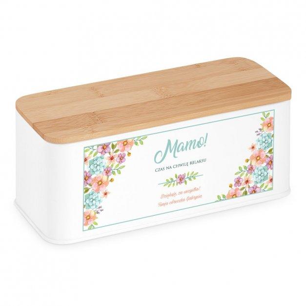 Zestaw Herbat w Metalowym Pudełku Nadruk Relaks Dla Mamy