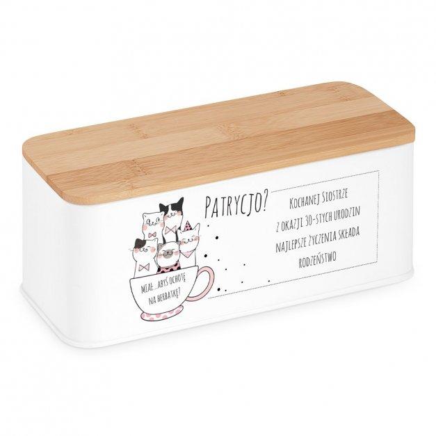 Zestaw Herbat w Metalowym Pudełku Nadruk Rodzina Kotów