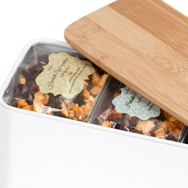 Zestaw Herbat w Metalowym Pudełku Nadruk Mops