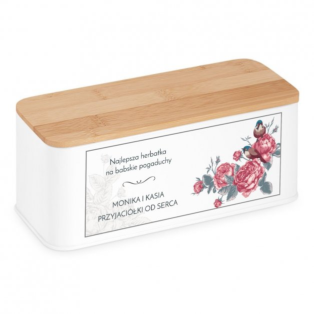 Zestaw Herbat w Metalowym Pudełku Nadruk Róże Dla Przyjaciółki