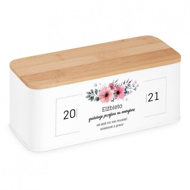 Zestaw Herbat w Metalowym Pudełku Nadruk Kwiaty