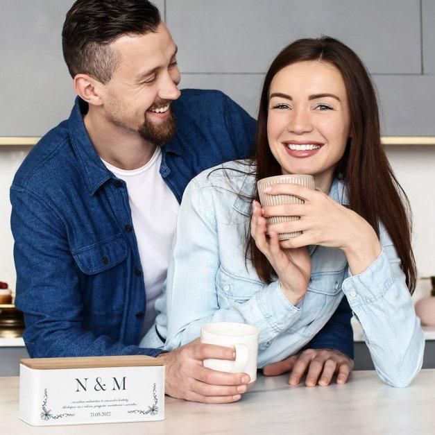 Zestaw Herbat w Metalowym Pudełku Nadruk Na Ślub