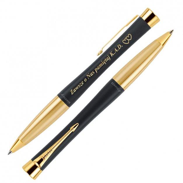 Długopis Urban Muted Black GT GRAWER i ETUI