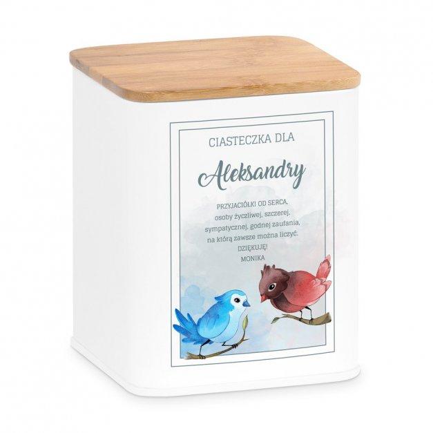 Tradycyjne Pierniki z Torunia w Personalizowanym Pudełku Ptaszki