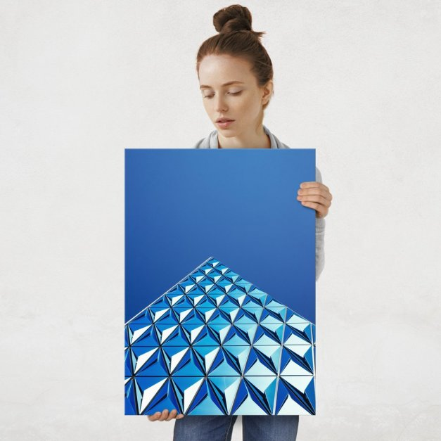 Plakat metalowy szklana piramida L