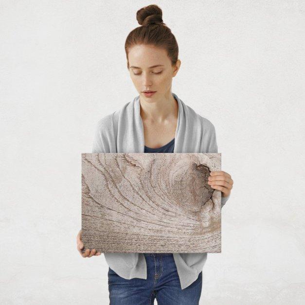 Plakat metalowy ścięte drzewo M