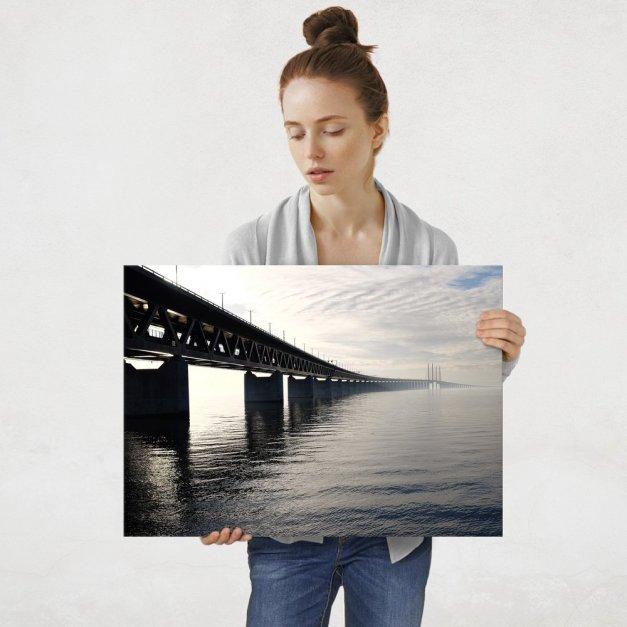 Plakat metalowy Most Qingdao Haiwan L