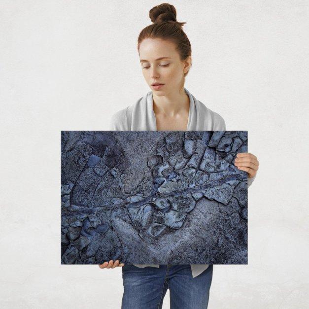 Plakat metalowy tekstura kamieni L