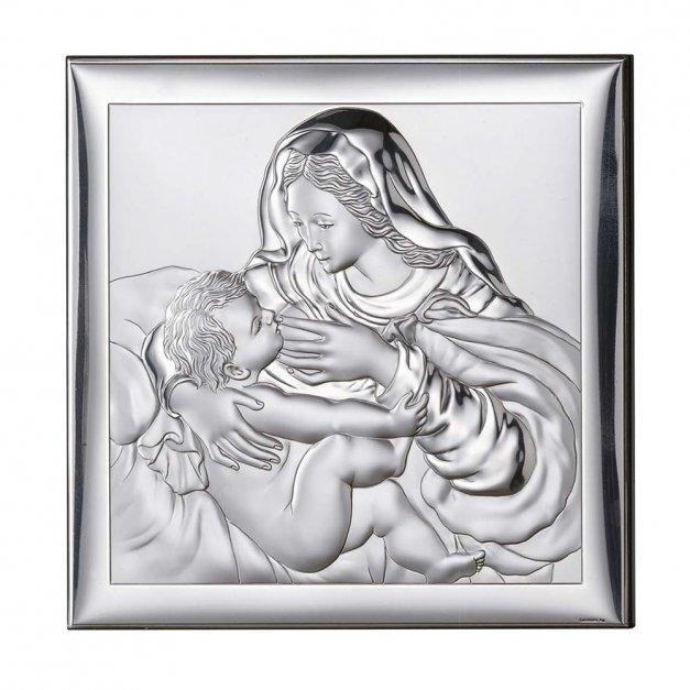 Obrazek Święty Matka Boska Prezent Na Chrzest GRAWER