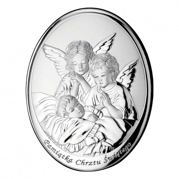 Obrazek Srebrny Prezent Na Chrzest z GRAWEREM