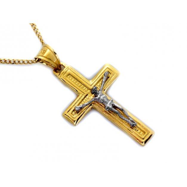 Złota zawieszka 585 krzyżyk krzyżyk PREZENT