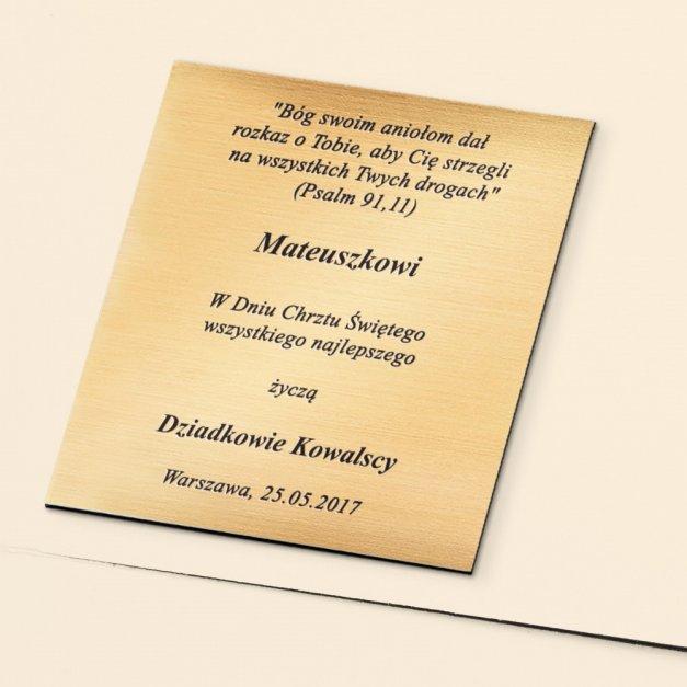Album z Aniołkiem Prezent Na Chrzest Z GRAWEREM