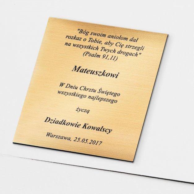 Album z Aniołkiem Prezent Na Chrzest GRAWER