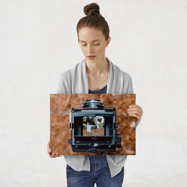 Plakat metalowy aparat fotograficzny M
