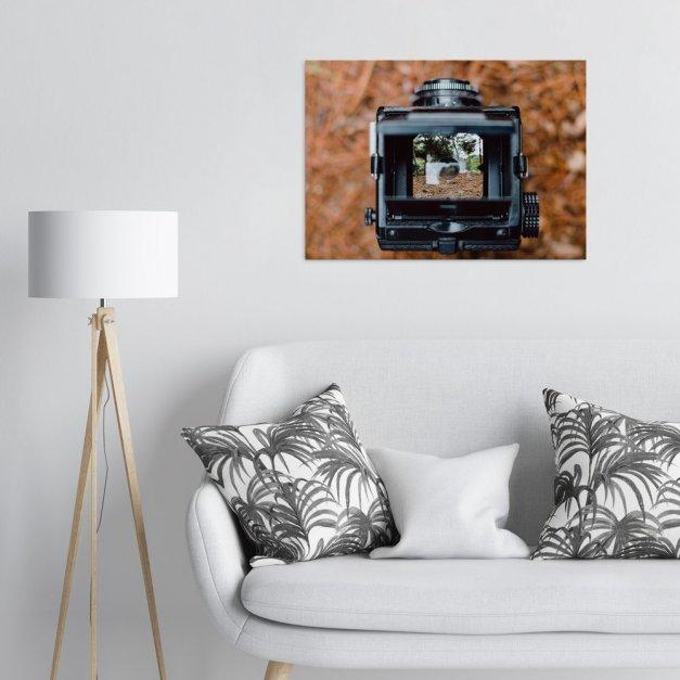 Plakat metalowy aparat fotograficzny L