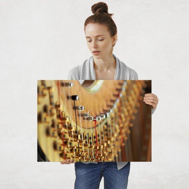 Plakat metalowy harfa L