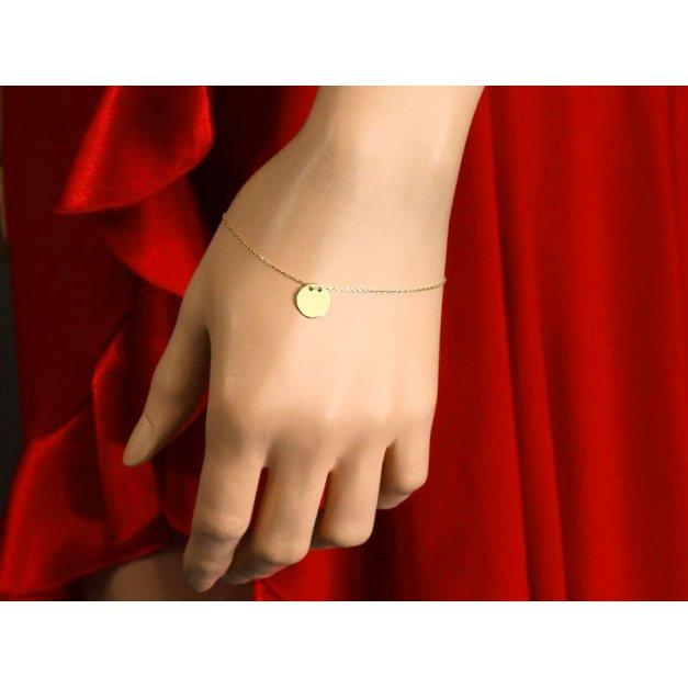 Złota bransoletka 585 gwiazd, celebrytka celebrytka