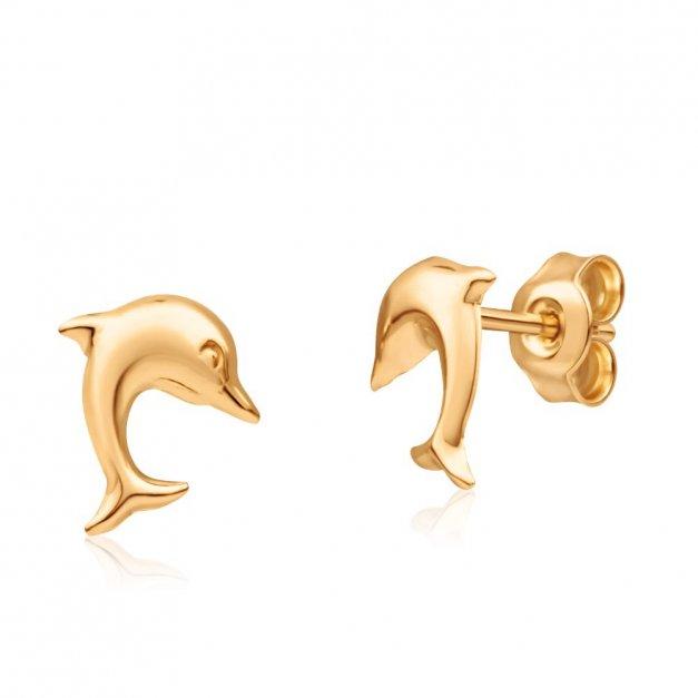 Kolczyki Złote Delfiny 333 GRAWER
