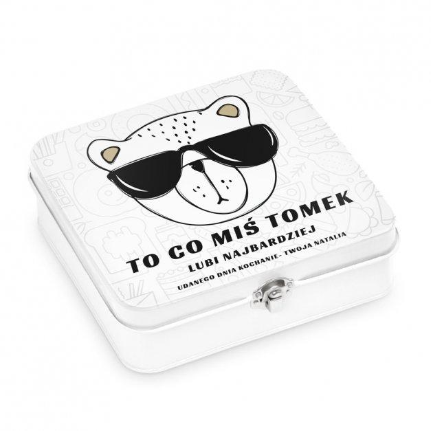 Metalowa Śniadaniówka Lunch Box z Nadrukiem Dla Misia