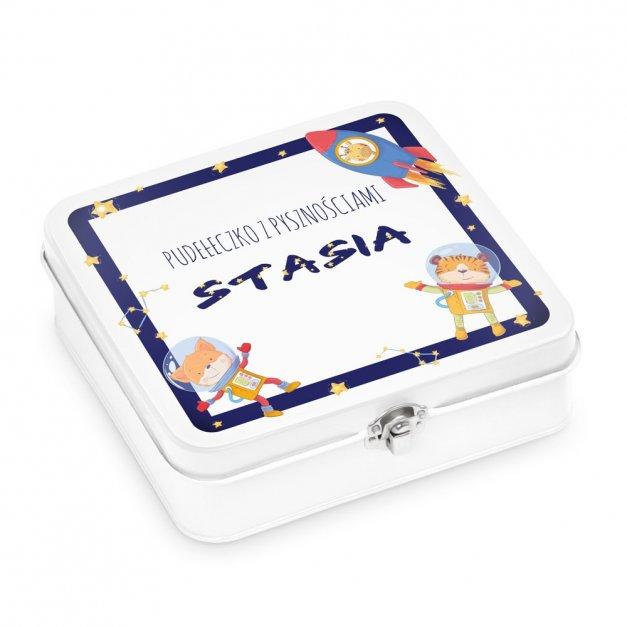 Metalowa Śniadaniówka Lunch Box z Nadrukiem Kosmos