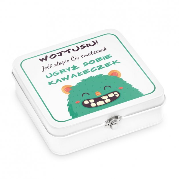 Metalowa Śniadaniówka Lunch Box z Nadrukiem Smuteczek