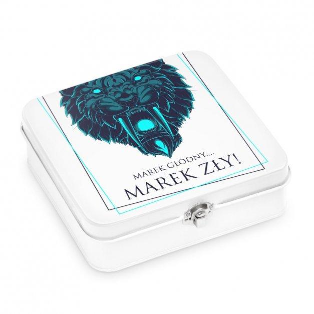 Metalowa Śniadaniówka Lunch Box z Nadrukiem Tygrys
