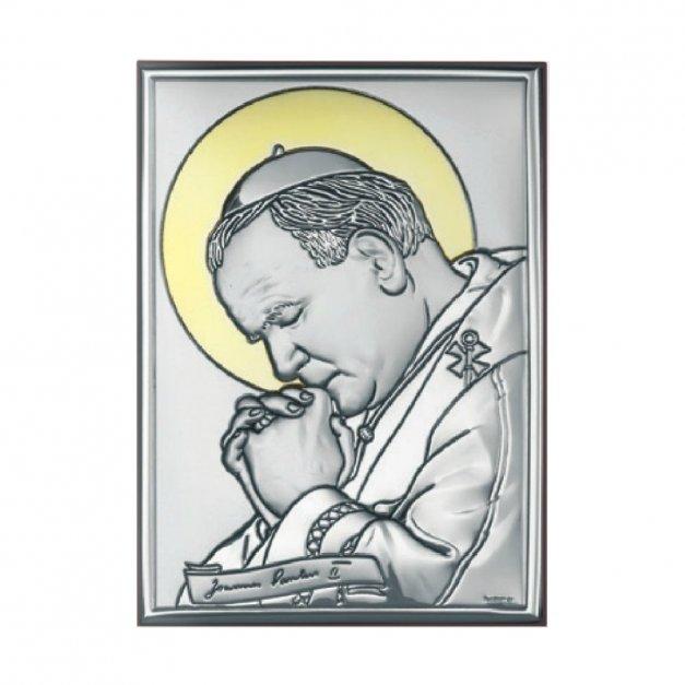 Obrazek Srebrny Papież Jan Paweł II GRAWER
