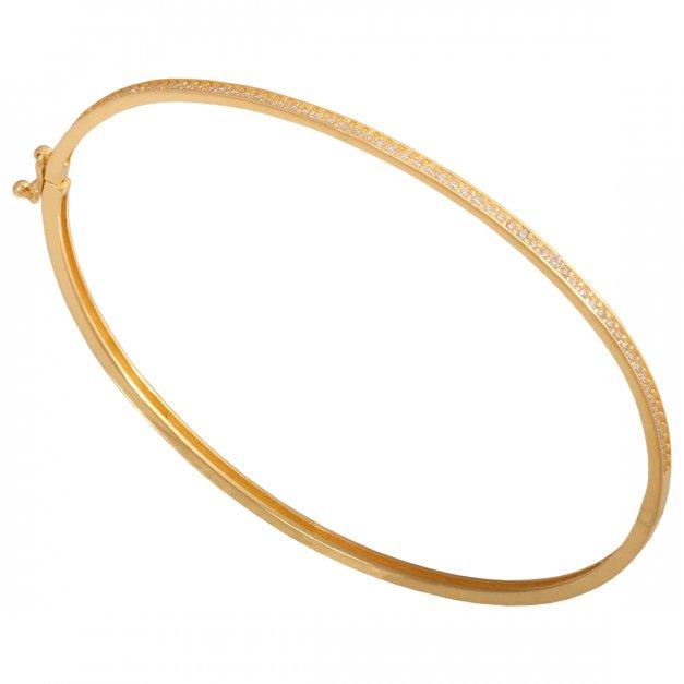 Złota bransoletka 585 sztywna PREZENT GRAWER