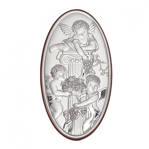 Obrazek z Aniołkami Prezent Na Chrzciny GRAWER