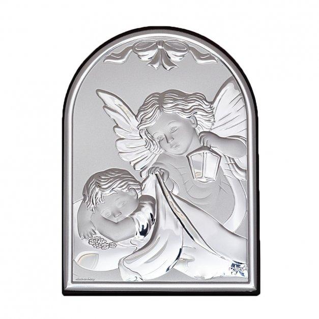Obrazek Srebrny Anioł Prezent Na Chrzest GRAWER