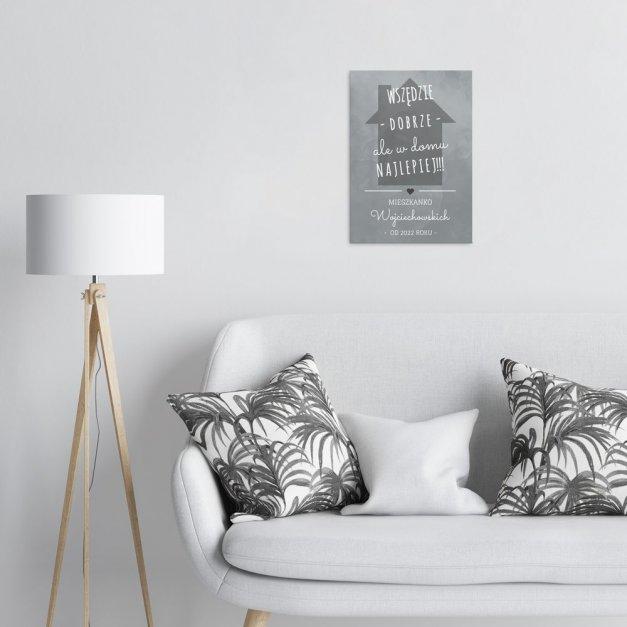 Plakat metalowy w domu najlepiej M