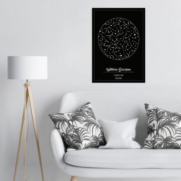Plakat metalowy gwiazdozbiór L