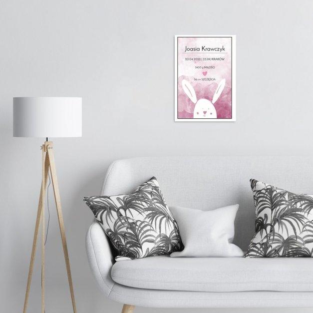 Plakat metalowy metryczka dla dziewczynki M
