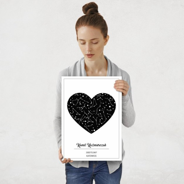 Plakat metalowy Kosmiczne serce M