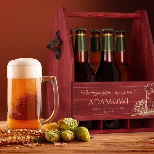 Personalizowane Nosidło Na Piwo Z Otwieraczem Kufel