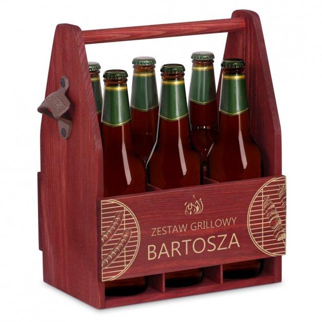 Personalizowane Nosidło Na Piwo Z Otwieraczem Zestaw Grillowy