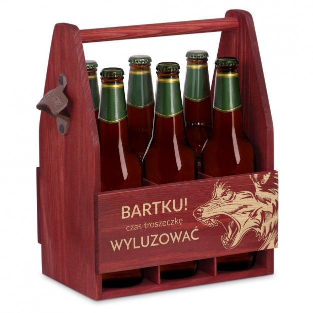 Personalizowane Nosidło Na Piwo Z Otwieraczem Wilk