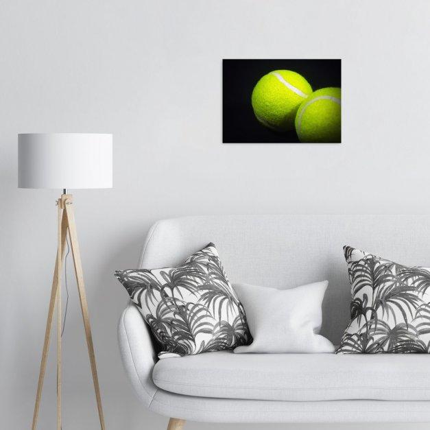 Plakat metalowy piłki do tenisa ziemnego M