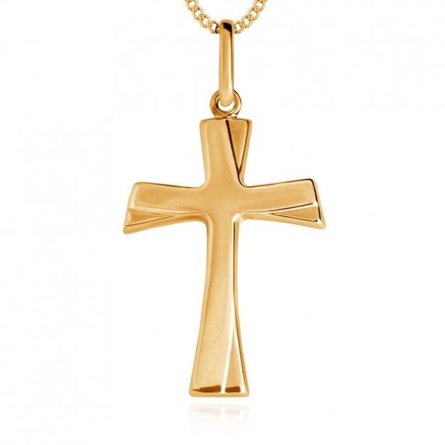 Złoty Komplet 333 Łańcuszek z Krzyżykiem ZZ165