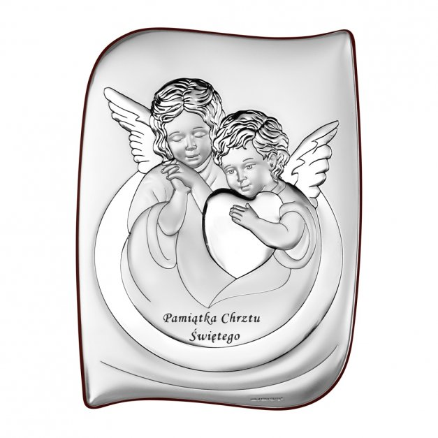 Pamiątka Chrztu Świętego Aniołki Grawer