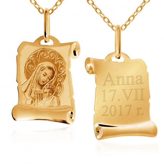 Złoty Komplet 333 Matka z Dzieciątkiem GRAWER ZZ167