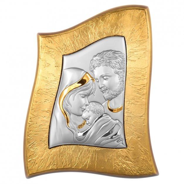 Obraz Srebrny Święta Rodzina 38cm GRAWER