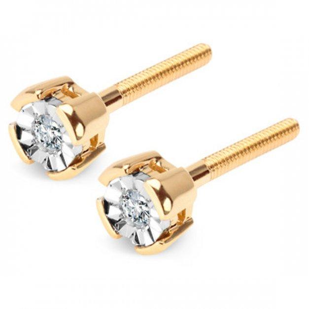 Złote kolczyki 585  na sztyfcie prezent grawer