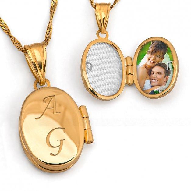 Złoty Komplet 333 Puzderko GRAWER ZZ139