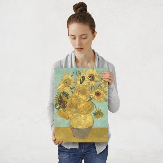 Plakat metalowy Vincent van Gogh Sunflowers M