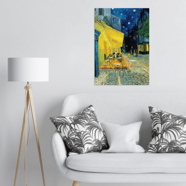 Plakat metalowy Vincent van GoghTerrace of a café at night L